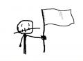 oggi, nella guerra contro la vita, alzo bandiera bianca. ma la vita non si accorge e va avanti.
