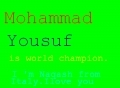 Mohammad yousuf is world champion